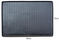 Коврик резиновий у багажник ЧОРНИЙ 70 x 100