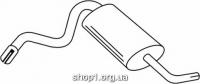 Ferroz 03.016  (03.16)  Задний глушитель LADA NIVA   4x4  1.7I  cat  6/96-
