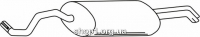 Ferroz 04.035  (04.35)  Глушитель выхлопных газов конечный SKODA OCTAVIA   combi hatch sedan  1.8i T 20V 1.8GTi 2.0i  cat  05/98-01/06