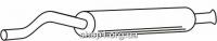Ferroz 05.025  (05.25)  Средний глушитель AUDI 80   avant sedan  1.6 2.0 1.9TD 1.9TDi  cat  91-96