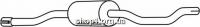Ferroz 05.031  (05.31)  Предглушитель выхлопных газов AUDI 80     1,3    78-81