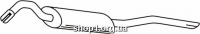 Ferroz 06.051  (06.51)  глушитель на  VOLKSWAGEN JETTA     1.8 1.8i 1.8GLi  cat  87-91