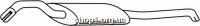 Ferroz 06.058  (06.58)  Глушитель задняя часть VOLKSWAGEN PASSAT   sedan variant  1.6i 1.8i 2.0i 1.9TD  cat  93-96