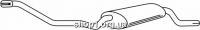Ferroz 06.060  (06.60)  Глушитель задняя часть VOLKSWAGEN POLO   coupe hatchback  1.0 1.0i 1.3 1.3i 1.3D  cat  84-90