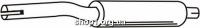 Ferroz 06.066  (06.66)  резонатор выхлопной системы VOLKSWAGEN POLO   hatchback  1.3i  cat  90-94