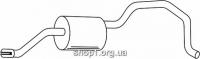 Ferroz 06.097  (06.97)  Задний глушитель VOLKSWAGEN CADDY I   Pick-up  1.5 1.6 1.6D    82-92