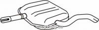 Ferroz 06.161 Средний глушитель VOLKSWAGEN GOLF III   hatchback cabrio  1.9TDi  cat  96-