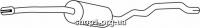 Ferroz 06.213 Средний глушитель FORD GALAXY     1.9TDi  cat  94-95