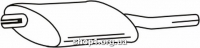Ferroz 07.004  (07.04)  глушитель на  OPEL KADETT D   combi  1.0S 1.2S    79-84