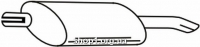 Ferroz 07.007  (07.07)  Глушитель задняя часть OPEL ASTRA I   hatchback  1.4i 1.6i 1.8i 2.0i 1.7D 1.7TD 1.7TDS    91-96