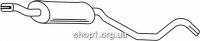 Ferroz 07.044  (07.44)  Труба выхлопной системы OPEL ASCONA C   hatchback sedan  1.6 1.8i 2.0i  cat  86-88