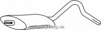 Ferroz 07.047  (07.47)  Средний глушитель OPEL REKORD E   combi  1.8N 1.8S 1.8i 1.9N 2.0N 2.0S    77-86