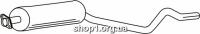 Ferroz 07.090  (07.90)  резонатор глушителя OPEL KADETT E   hatchback sedan  1.7D    89-91