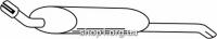 Ferroz 07.110 глушитель на  OPEL VECTRA A   hatchback  1.8i 1.8GT 2.0i 2.0GT  cat  88-95