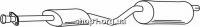 Ferroz 07.244 Глушитель средняя часть OPEL FRONTERA A   LWB 4x4  2.3TD    92-93