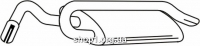 Ferroz 08.075  (08.75)  глушитель на  FORD ESCORT   combi  1.6i 1.8i 16V  cat  8/90-95