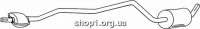 Ferroz 08.163 Средний глушитель FORD FIESTA   courier  1.8D    91-95
