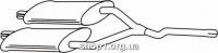 Ferroz 08.180 Средний глушитель FORD TAUNUS   sedan 2000 2300  2.0 2.3    76-83