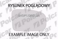 Polcar 1315541E стекло зеркала внешнего AUDI 100 (C3)+ AVANT 10.82-11.90/200, 9.83-12.91