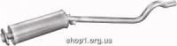 17.193 Резонатор (середній глушник) Polmostrow чорний для Opel Kadett E 89-91 1.7D